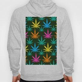 Colorful Marijuana weed Hoody