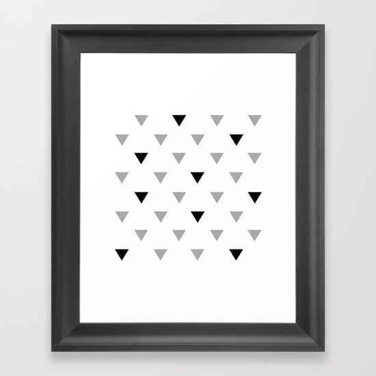 black triangles Framed Art Print