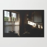 office Canvas Prints featuring office by Rae Snyder