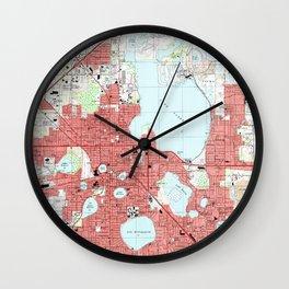 Lakeland Florida Map (1994) Wall Clock