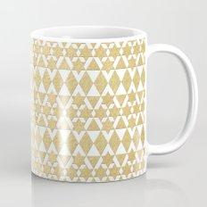 White and Gold Geometric Pattern 4 Mug