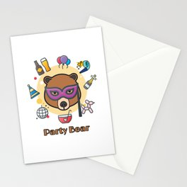 Party bear Stationery Cards