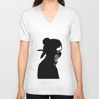 rebel V-neck T-shirts featuring REBEL by Touvhe