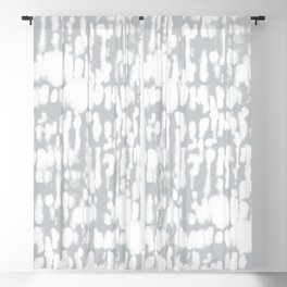 Inky Inverse Grey Blackout Curtain