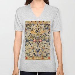 """William Morris """"Acanthus and vine"""" 1. Unisex V-Neck"""