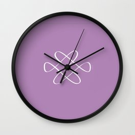 Infinity Knot in Purple - Minimal FS - by Friztin Wall Clock