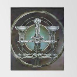"""Astrological Mechanism - Libra"" Throw Blanket"