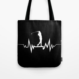 Golfer Heartbeat For Golf Lovers Tote Bag
