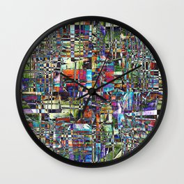 Colorful Chaotic Composite Wall Clock