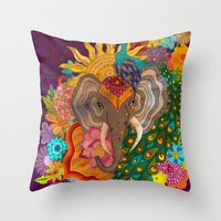 india Throw Pillows featuring India by Aubree Eisenwinter