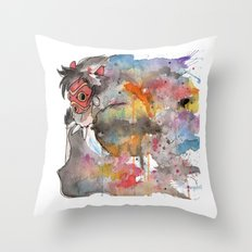 Rainbow Princess Mononoke Throw Pillow