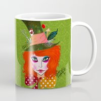 mad hatter Mugs featuring Mad Hatter by Lunah