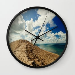Lighthouse At The Beach By The Ocean In Denmark Wall Clock