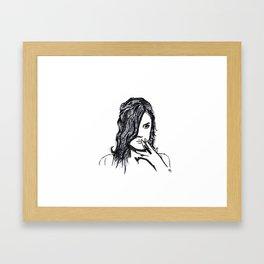 Girls don't cry Framed Art Print