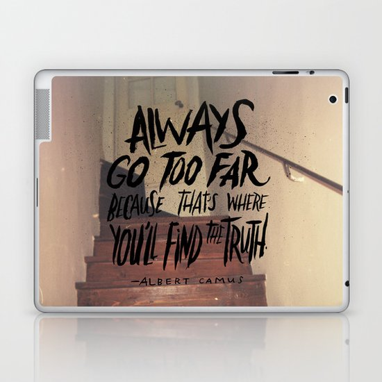Camus on Finding the Truth Laptop & iPad Skin
