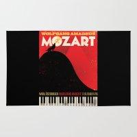 mozart Area & Throw Rugs featuring NUR EINE NACHT! by Thomas Sullivan