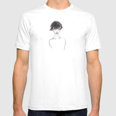 Hush SMALL White Mens Fitted Tee