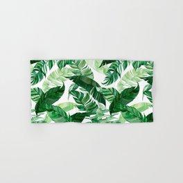 Green leaf watercolor pattern Hand & Bath Towel