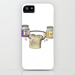 Funny Peanut Butter Jelly Workout, Gym and Fitness Design iPhone Case