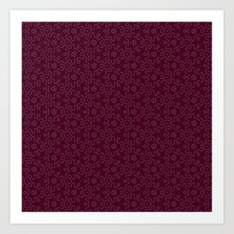 RedWine Delicate Pattern Art Print