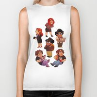 it crowd Biker Tanks featuring IT Crowd by SIINS