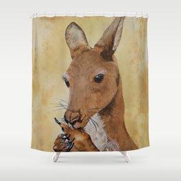 Jeremy's Thumb - Kangaroo Shower Curtain