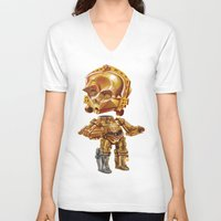 c3po V-neck T-shirts featuring C3PO by oRen
