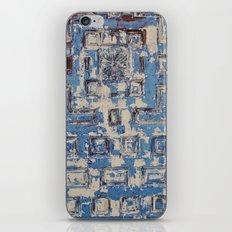 Blue Patterned Door iPhone & iPod Skin