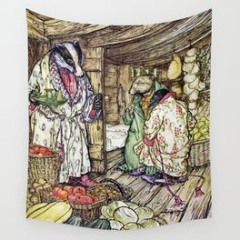 """""""The Badger's House"""" by Arthur Rackham Wall Tapestry"""