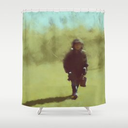 A young soldier - painting by Brian Vegas Shower Curtain
