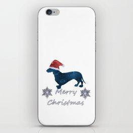 Santa Dachshund iPhone Skin