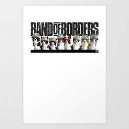 Band of Borders - Snow Art Print