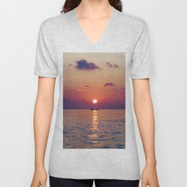 Calm Sunset (Color) Unisex V-Neck