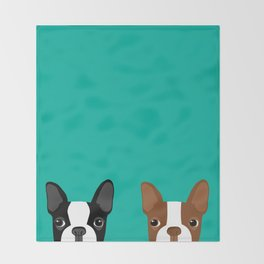 Boston Terriers Throw Blanket