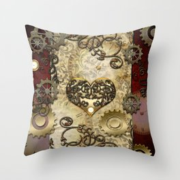 Steampunk, wonderful heart Throw Pillow
