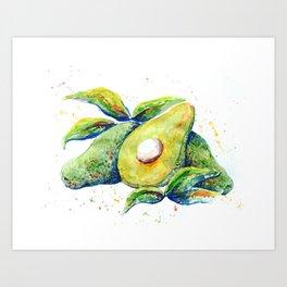 Avocados - Watercolor Art Print