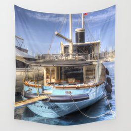 Lutteur Motor Yacht Wall Tapestry