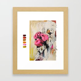 Pink wood stumps Framed Art Print