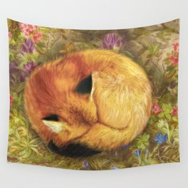 The Cozy Fox Wall Tapestry