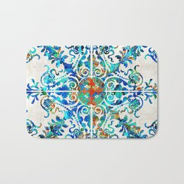 Colorful Pattern Art - Color Fusion Design 6 By Sharon Cummings Bath Mat