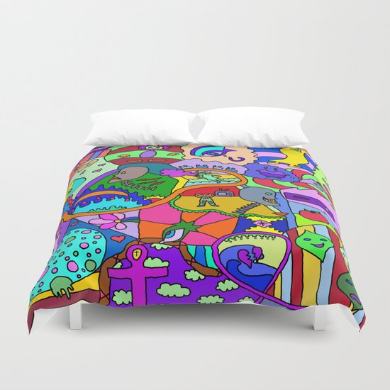 Abstract 16, RA Duvet Cover