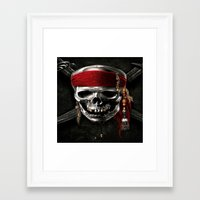 pirate Framed Art Prints featuring PIRATE by Acus