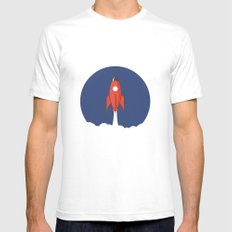 Spaceship Mens Fitted Tee White SMALL