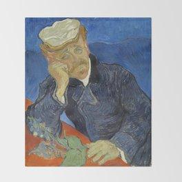 Vincent van Gogh - Dr Paul Gachet Throw Blanket
