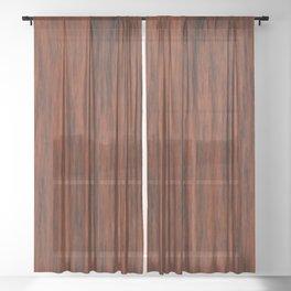 Mahogany Sheer Curtain