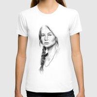 katniss T-shirts featuring Katniss Everdeen by Cécile Pellerin