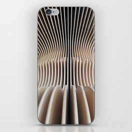 wooden curves iPhone Skin