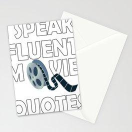 I Speak Fluent Movie Quotes Stationery Cards