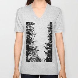 Colorado Pines Black and White Unisex V-Neck