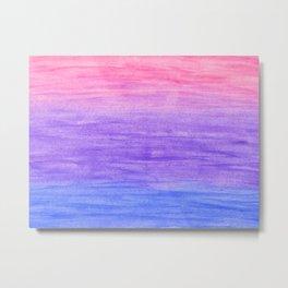 Blue, purple and pink gradient Metal Print